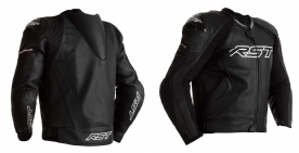 RST Tractech Evo 4 Black Leather Jacket